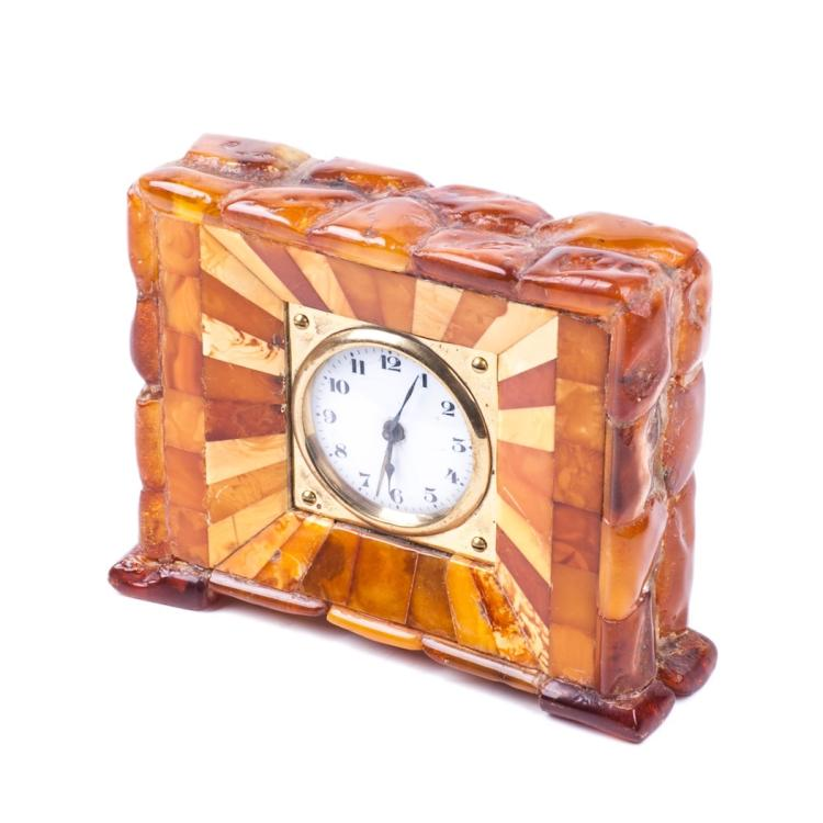 Desk clock with amber and alarm 1920s