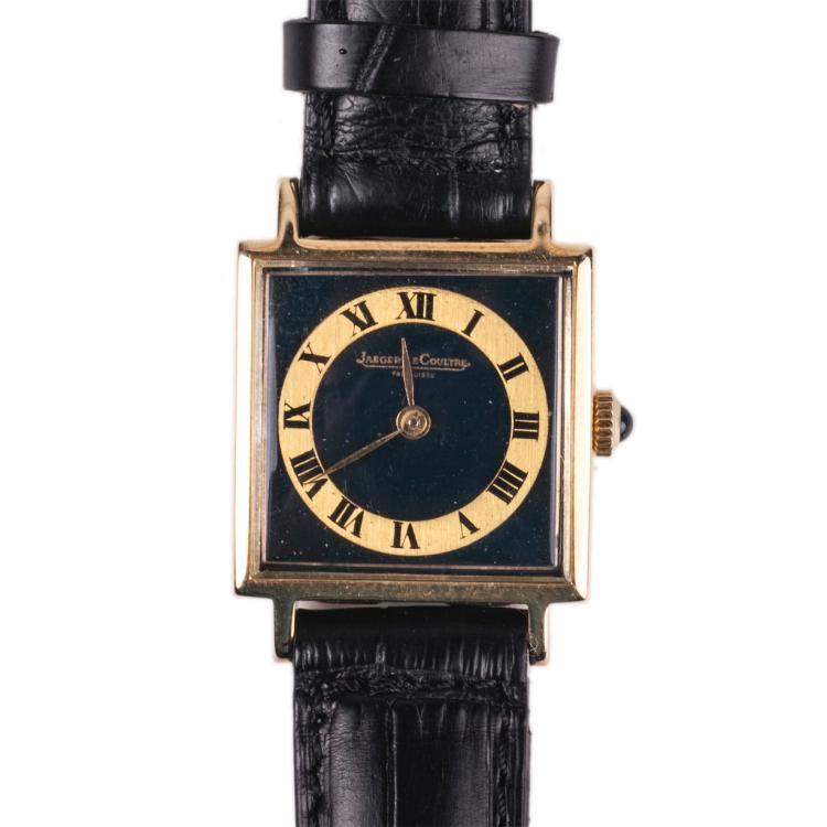 Jaeger Le Coultre 18K gold quartz women's wristwatch