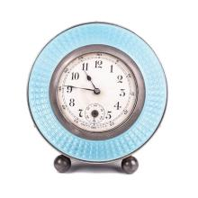 Desk clock with silver on legs