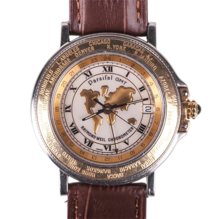 R.Weil Chronometer men's chronograph calendar wristwatch