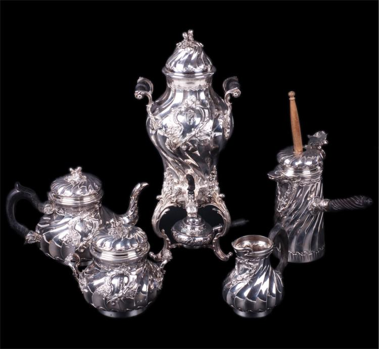 French silver service of 5 pieces