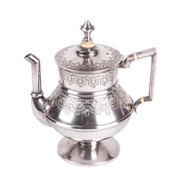 Russian silver teapot. Grachev