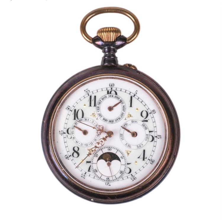 Pocket watch with calendar