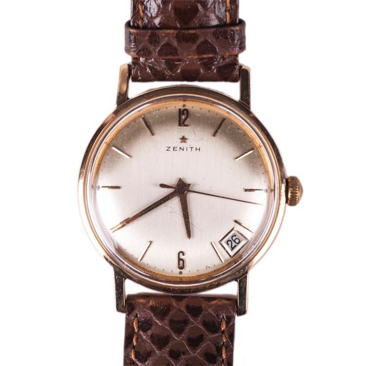 Zenith 18K gold men's wristwatch with calendar