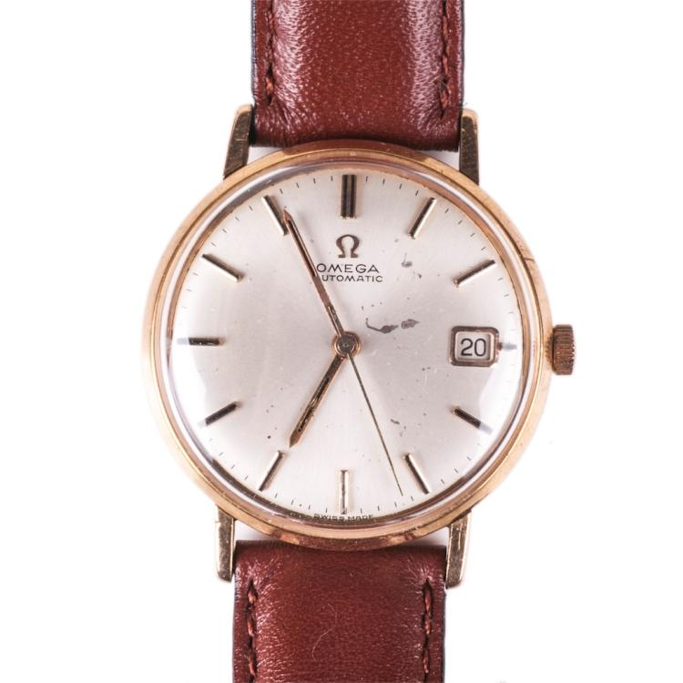 Omega 18K gold automatic wristwatch with calendar