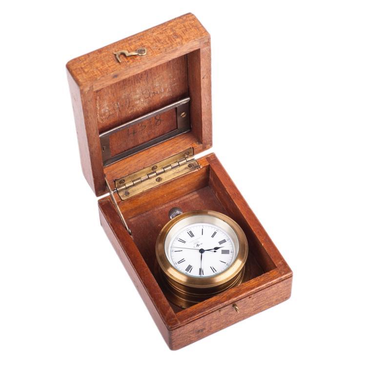 Marine silver chronometer watch Ulysse Nardin