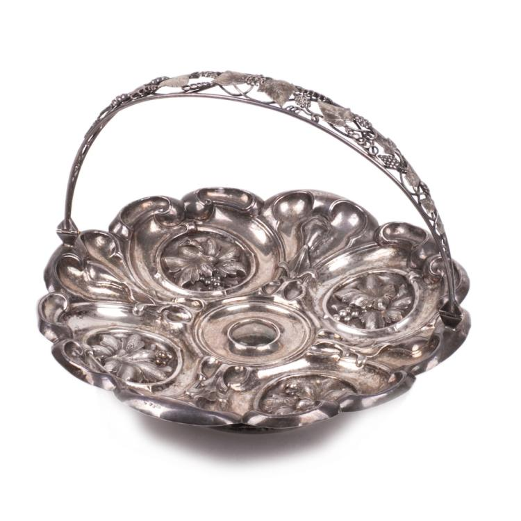 Antique Swedish silver bowl for sweets