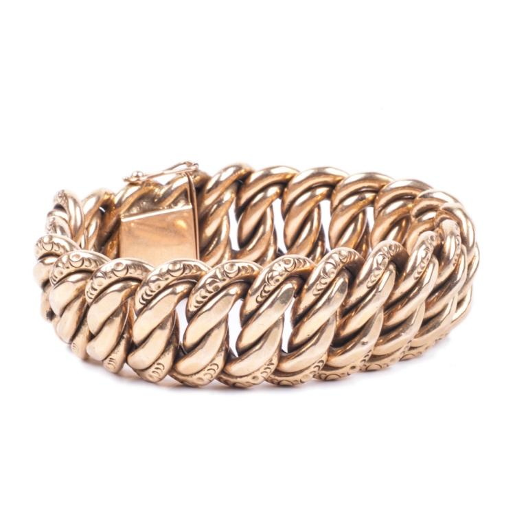 French 18K gold women's hand bracelet
