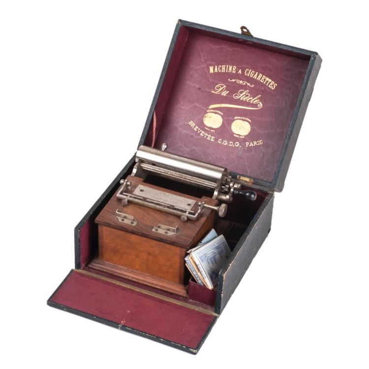 Antique French cigarette rolling machine