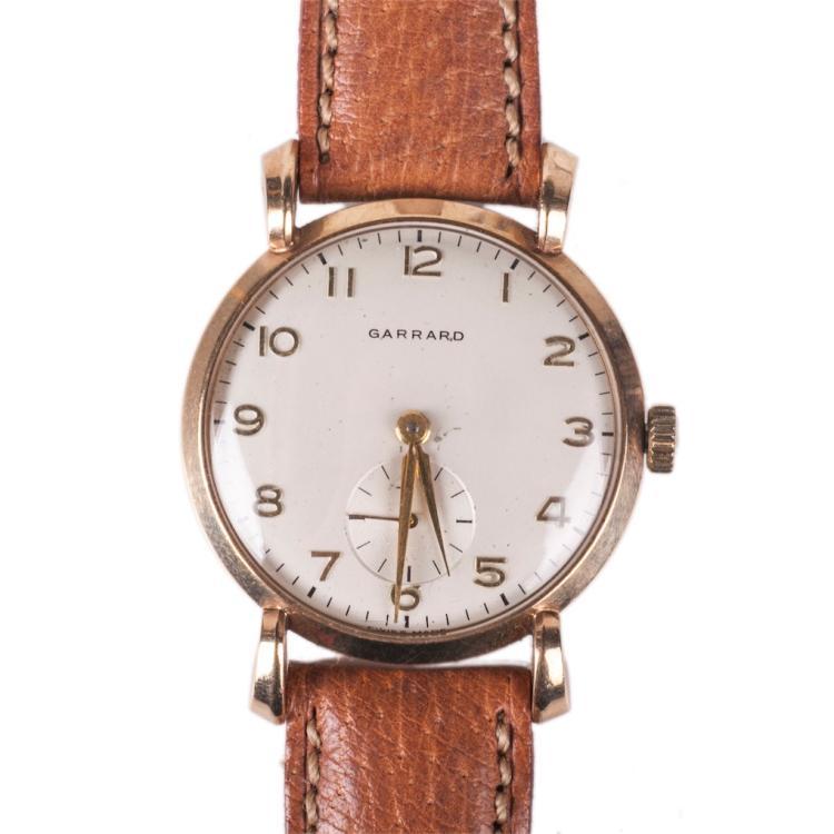Garrad 9K gold mechanical men's wristwatch