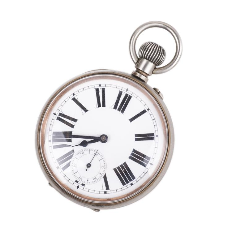 Metal military pocket watch
