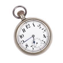 Steel pocket watch
