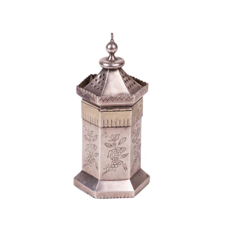 Russian silver and engraving sugar powder dispenser
