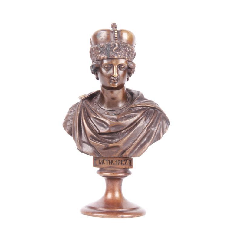 Russian bronze bust of Grand Duke Mstislav, F. Chopin