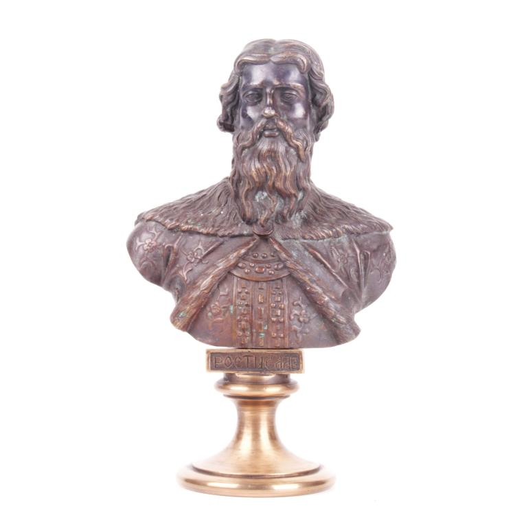 Russian bronze bust of Grand Duke Rostislav, F. Chopin