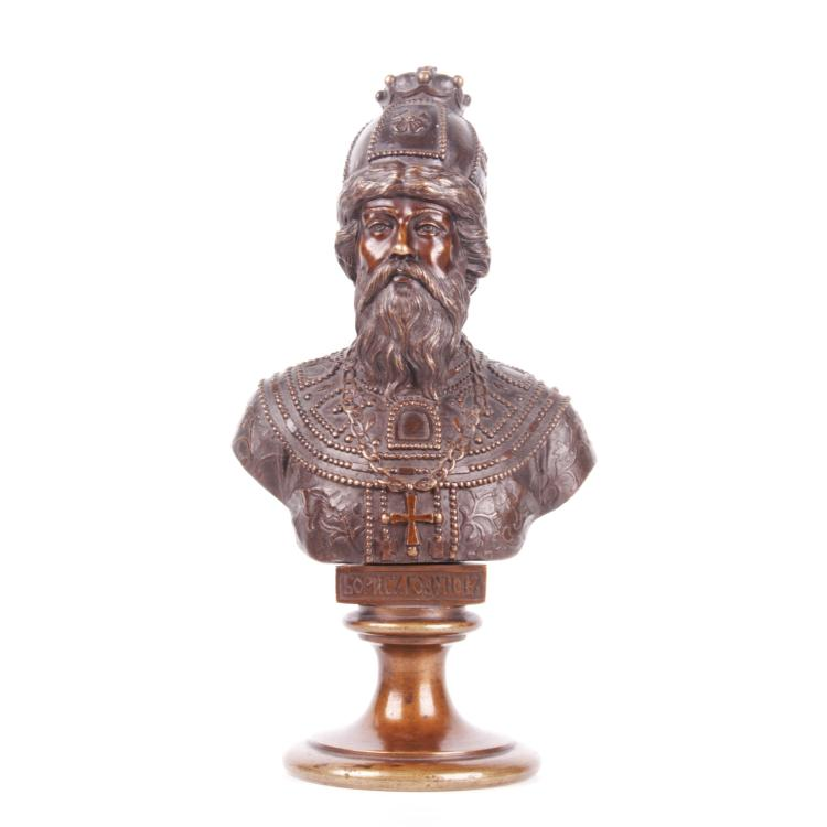 Russian bronze bust of Tzar Boris Godunov, F. Chopin