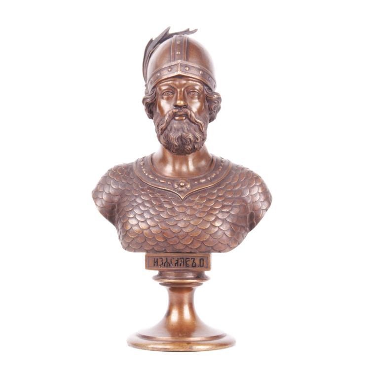 Russian bronze bust of Grand Duke Iziaslav II, F. Chopin