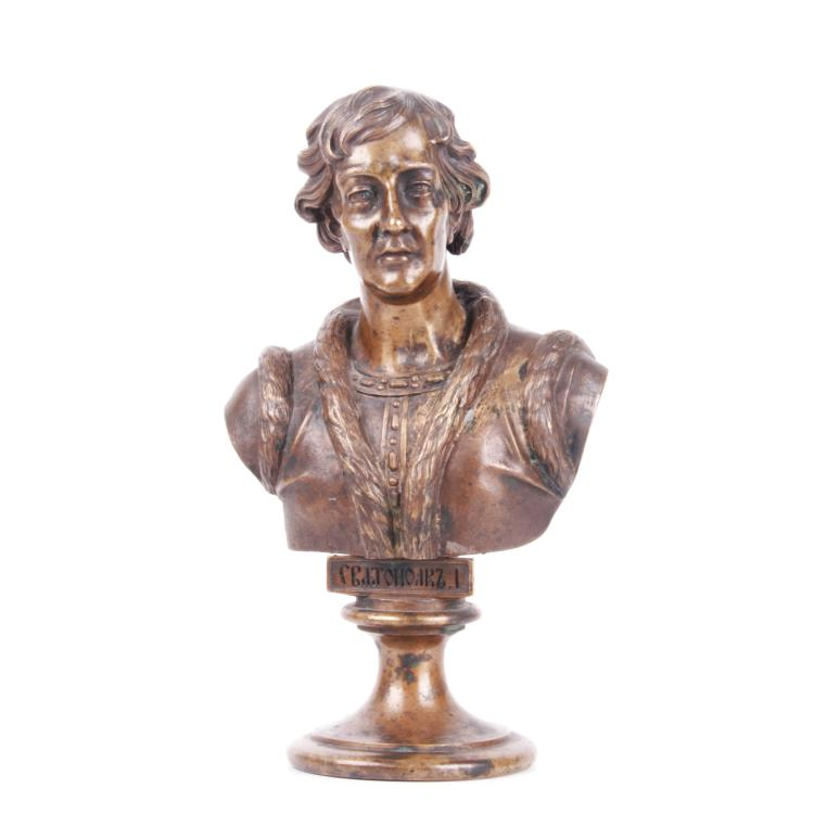 Russian bronze bust of Grand Duke Sviatopolk I, F. Chopin