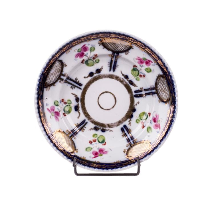 Russian porcelain plate with floral decor