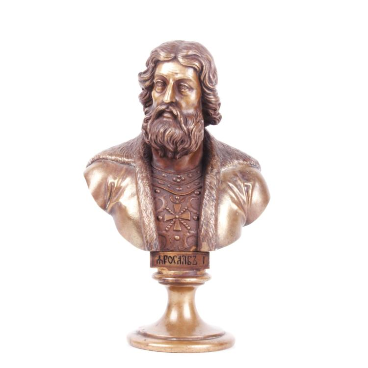 Russian bronze bust of Grand Duke Yaroslav I, F. Chopin