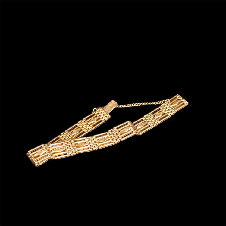 Russian Imperial time gold hand bracelet