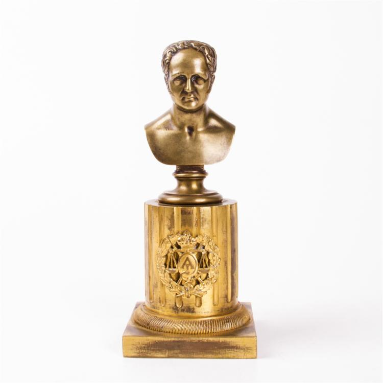 Rare Russian bust of Emperor Alexaner I, 1828