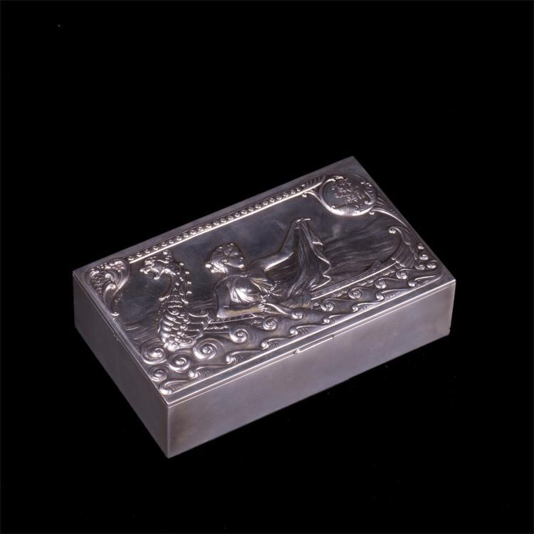 Nice Russian Art nouveau cigar box