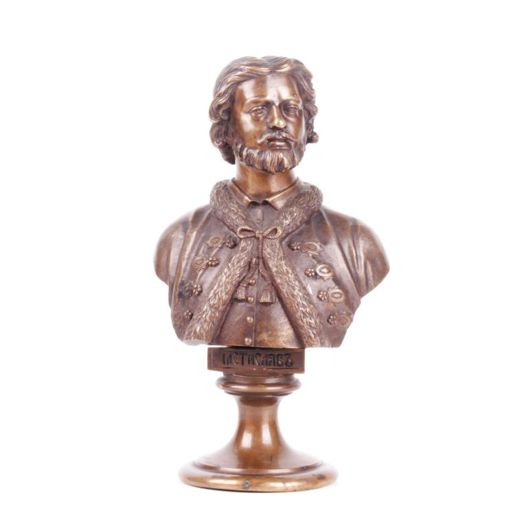 Russian bronze bust of Grand Duke Mstislav I, F. Chopin