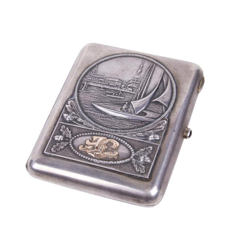 Memorable silver-gilt cigarette case
