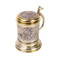 Russian 18th century silver-gilt and engraved cup
