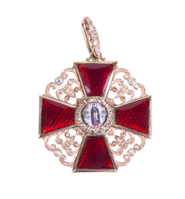 The Order of Saint Anna 3rd class with diamonds