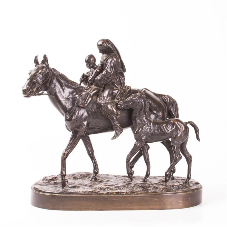 "Exceptional Russian ""Two mothers"" bronze sculpture"