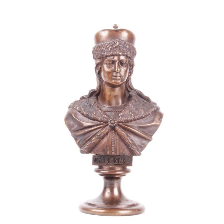 Russian bronze bust of Grand Duke Yuri Dolgorukiy, F.Chopin