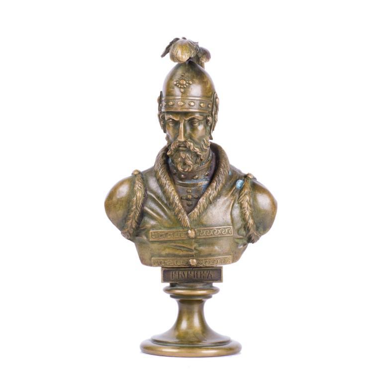 Russian bronze bust of Grand Duke Rurik, F. Chopin factory