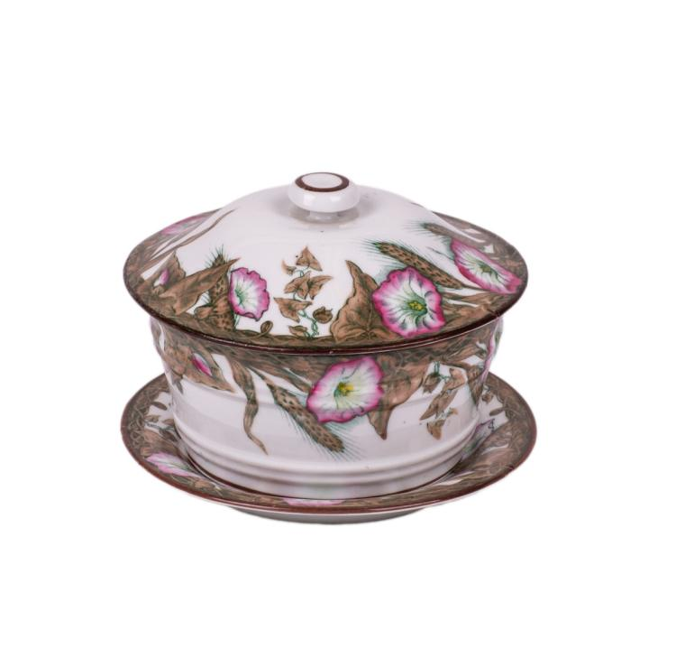 Great Russian floral porcelain bowl