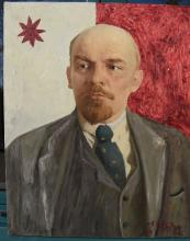 Oil Painting Lenin, Russian communist revolutionary