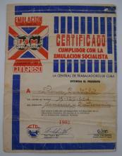 Cuba Fidel Castro Autograph 1981