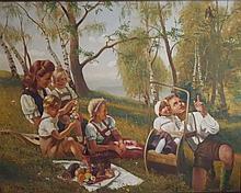Large painting by Anton Filkuka (Vienna 1888-1957)