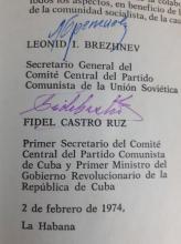 Signed Book Fidel Castro and Leonid Brezhnev