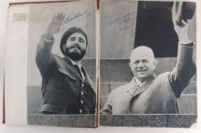Signed book Fidel Castro and Nikita chruschtschow
