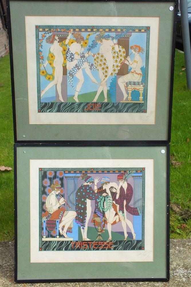 """Paul Allier – two Art Nouveau prints """"Joie"""", limi"""