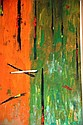 Oil on board abstract motif in the style of Fred