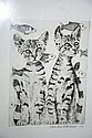 Carol Ann Edelkoort, screenprint 'Two Cats