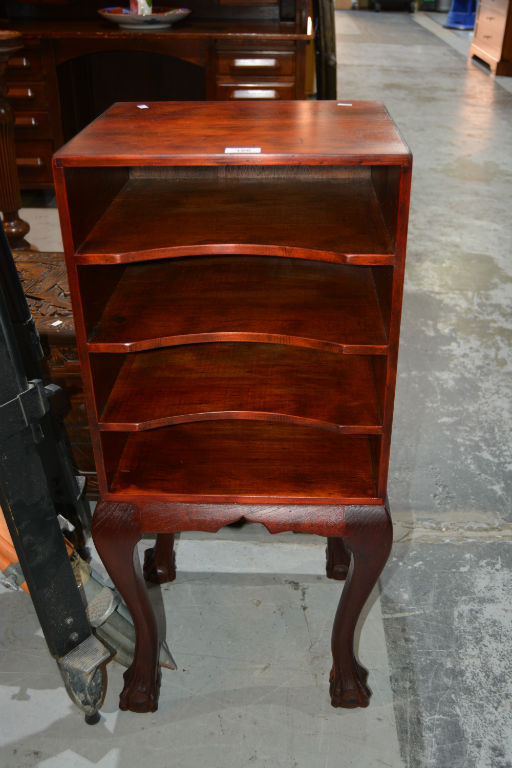 4 tier open file unit on carved cabriolet claw