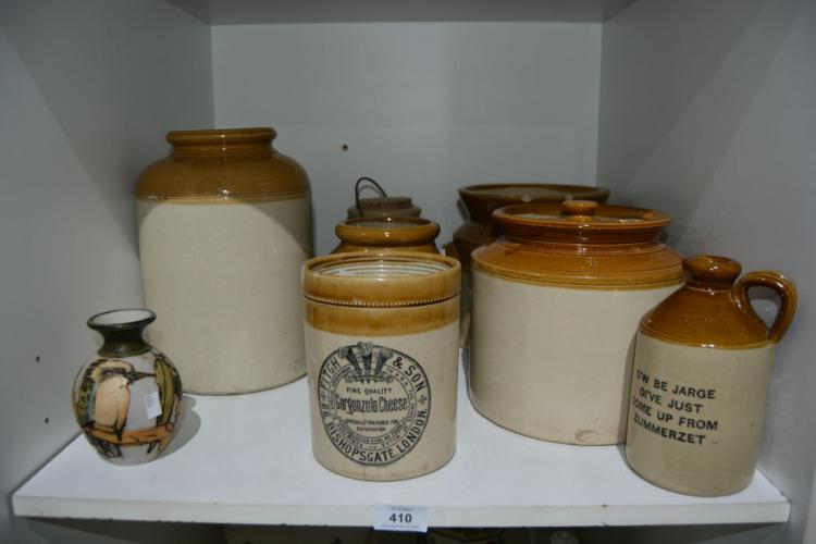 Qty of Australian stoneware incl. Bendigo,