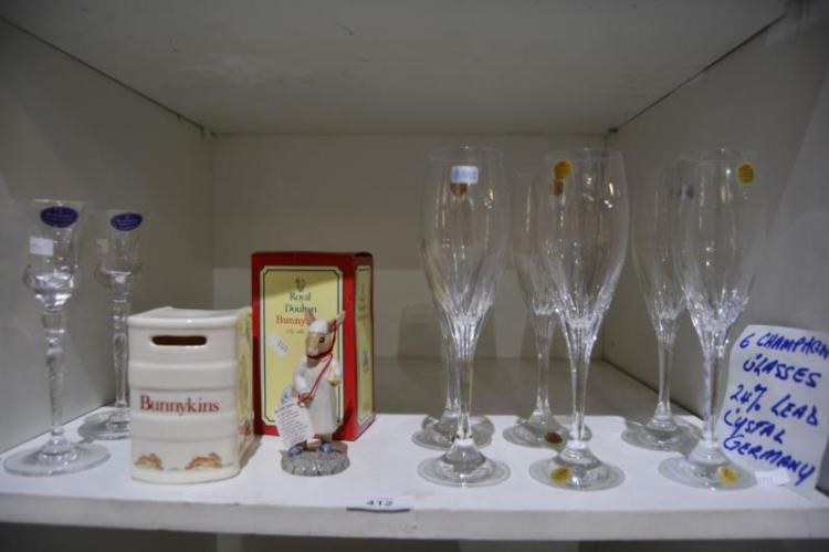 Royal Doulton 'Bunnykins' figurine and moneybank