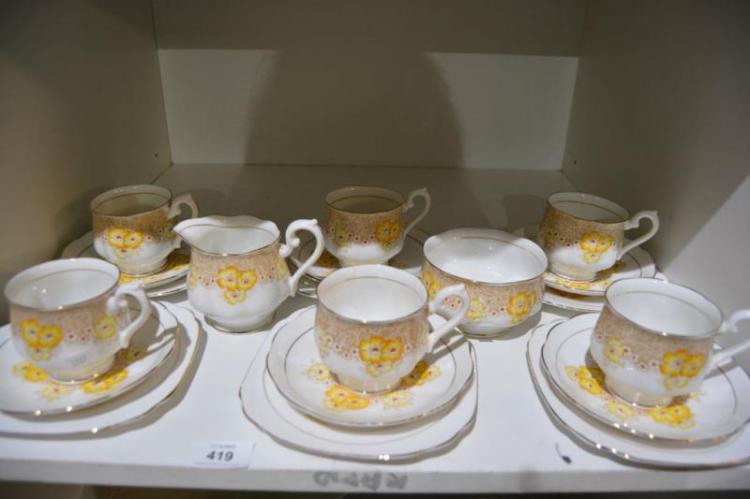 20 pieces Royal Albert tea service, rockery