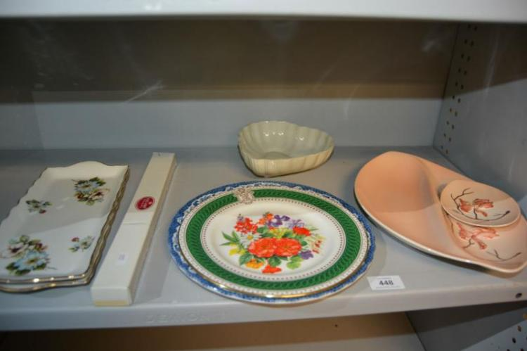 Collection of European porcelain, display