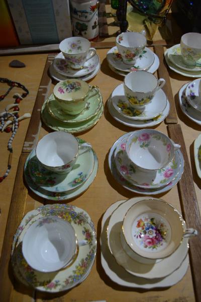 Selection of 8 various English china trios