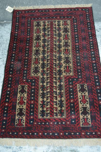 Persian Baluchi tribal rug, pure wool, hand
